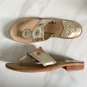 Jack Rogers Jacks Flat Sandal Gold Metallic Thong